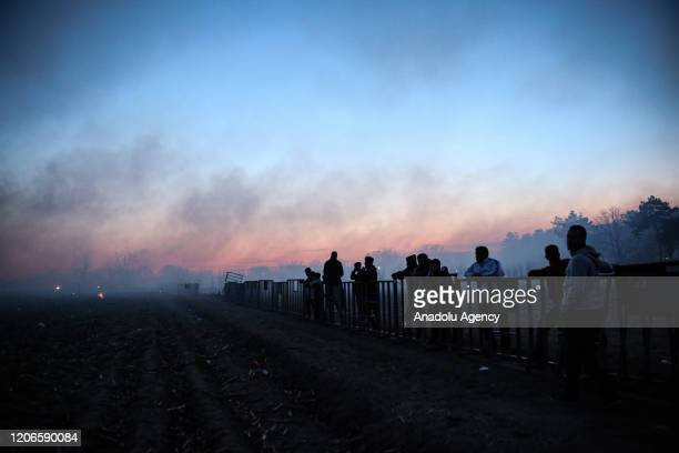 Heavy fog is seen after Greek security forces use tear gas to disperse asylum seekers in the region between the Kastanies and the Pazarkule border...