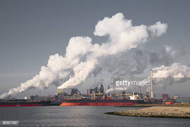 heavy industry iii - fumes stock photos and pictures