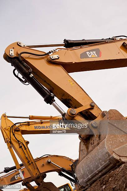 heavy machinery - komatsu stock pictures, royalty-free photos & images