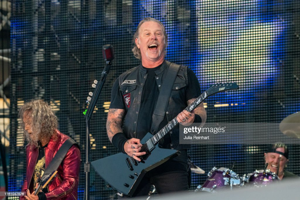 Heavy metal band Metallica performs on July 09, 2019 at