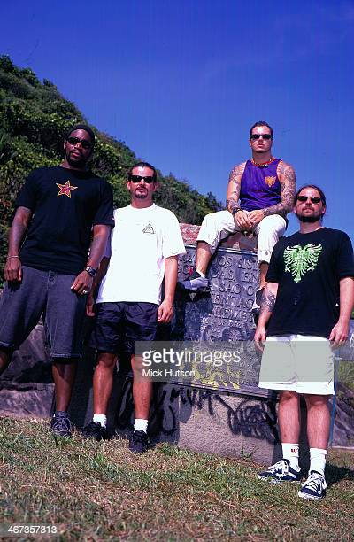 Heavy metal band Sepultura in a posed portrait 2001
