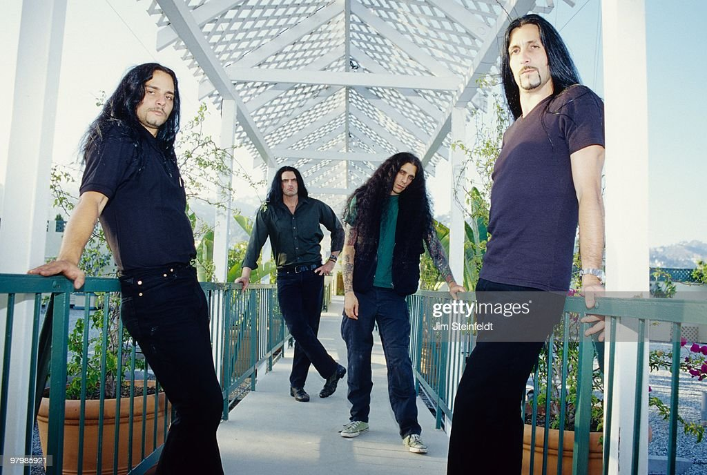 Heavy Metal band Type O Negative (L-R) Kenny Hickey, Peter Steele, Josh Silver, and Johnny Kelly pose for a portrait in Los Angeles, California on July 25, 1999.