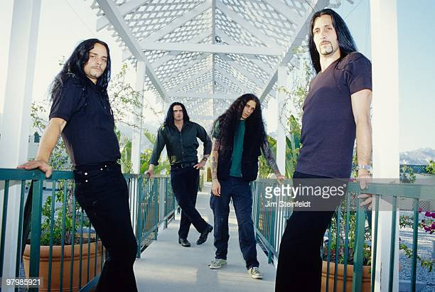 Heavy Metal band Type O Negative Kenny Hickey Peter Steele Josh Silver and Johnny Kelly pose for a portrait in Los Angeles California on July 25 1999