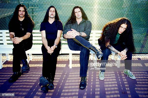 Heavy Metal band Type O Negative Kenny Kickey Johnny Kelly Peter Steele and Josh Silver pose for a portrait in Los Angeles California on July 25 1999
