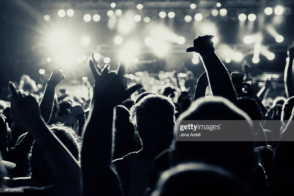 Heavy Metal Concert Pit : Stock Photo