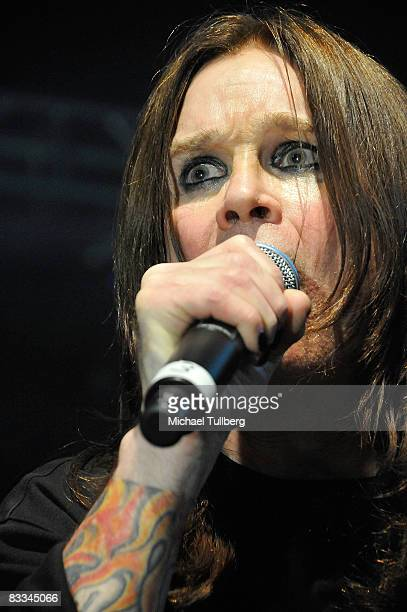 Heavy metal legend Ozzy Osbourne performs with allstar cover band Camp Freddy at the benefit grand opening of celebrity vehicle customization shop...