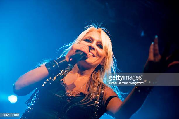 Heavy metal singer Doro Pesch performing live on stage at Hard Rock Hell in Prestatyn, on December 6, 2008.