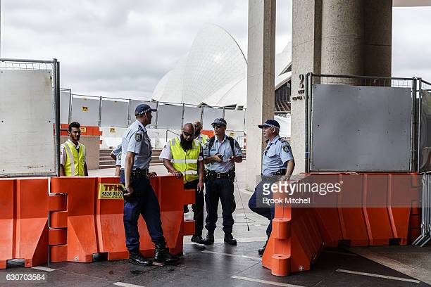 Heavy police presence at Circular Quay amid ongoing concern over possible terrorist attaacks on New Year's Eve on December 31 2016 in Sydney Australia