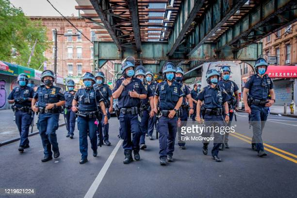 Heavy police presence following the protest. Hundreds of Brooklynites joined Democratic candidate for U.S. House New York District 7, Paperboy Love...