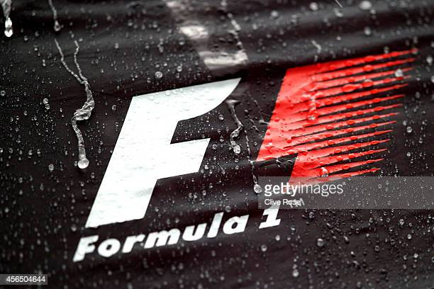 Heavy rain affects preparations ahead of the Japanese Formula One Grand Prix at Suzuka Circuit on October 2 2014 in Suzuka Japan