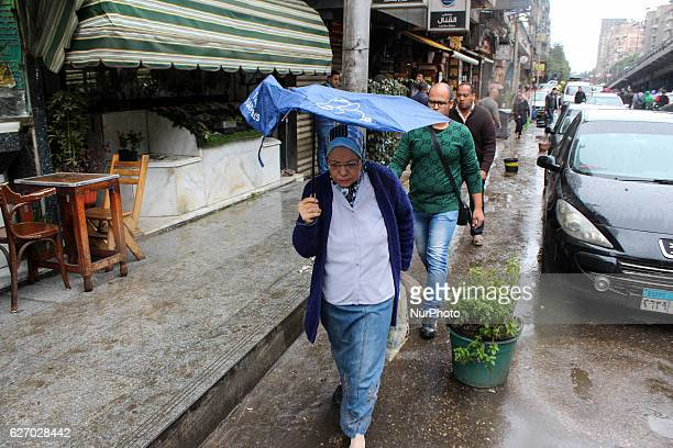 Heavy Rain and hail storm in Cairo Egypt on 1st December 2016 Rains have disrupted traffic and daily life of citizen Egypt's Meteorological authority...