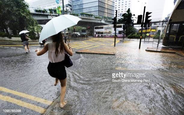 Heavy rain and slight flooding is seen in Admiralty commercial area Under the influence of an active southwesterly airstream heavy showers and...