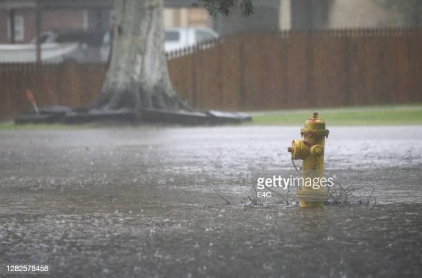 heavy rain during hurricane, louisiana - louisiana stock pictures, royalty-free photos & images
