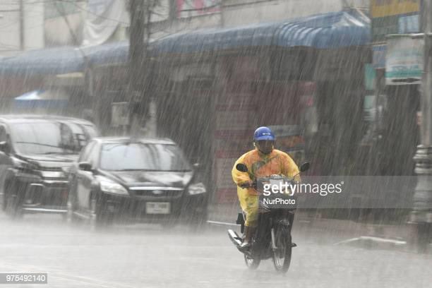Heavy rain hits Chiang Rai this afternoon On Friday June 15 in Chiang Rai Thailand
