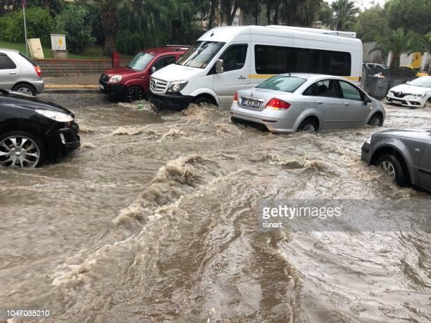 heavy rain in izmir - izmir stock pictures, royalty-free photos & images