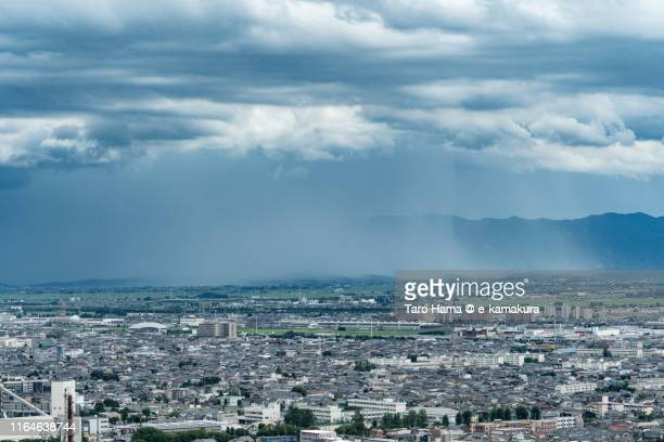 heavy rain on the mountain and land in japan - 新潟県 ストックフォトと画像