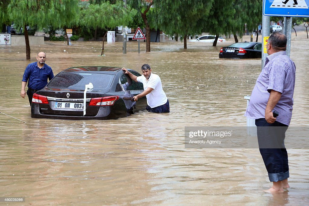 Heavy rainfall hits southern Turkey : News Photo