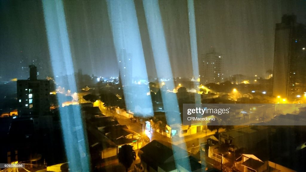 Heavy rainy night : Stock Photo