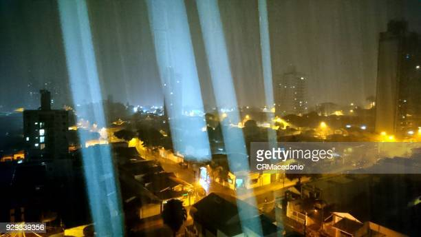 heavy rainy night - crmacedonio stock photos and pictures