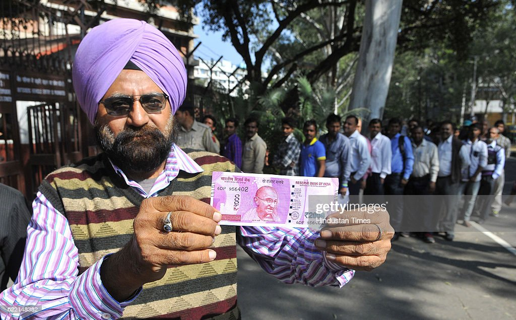 Heavy rush inside RBI for withdrawal as well to deposit the defunct old Rs 500 and Rs 1000 note at Sector 17 on November 10 2016 in Chandigarh India..