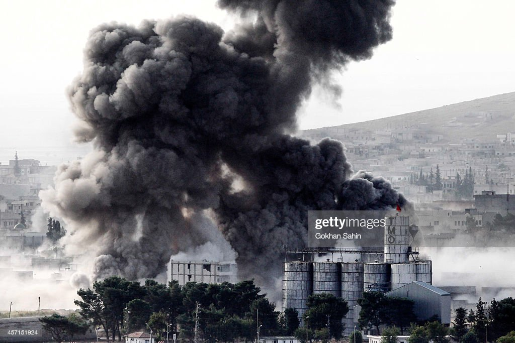 Syrian Kurds Battle IS To Retain Control Of Kobani : News Photo