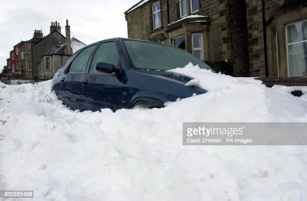 Heavy snow blocks roads in the Borders as thousands of Scottish homes were still waiting to have their power supply turned back on following...