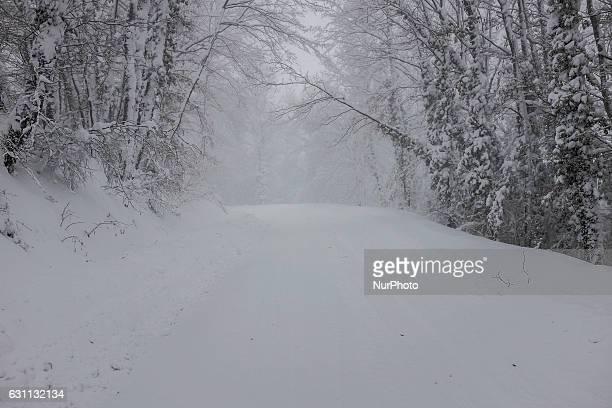 Heavy snowfall in Abruzzo Italy on January 6 2017