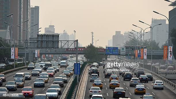 Heavy traffic in Beijing city ahead of upcoming 15th IAAF Athletics World Championships in Beijing on August 19 2015 Beijing will host the 15th IAAF...