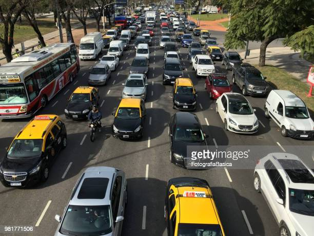 Heavy traffic in Buenos Aires