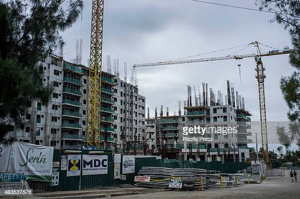 Heavy traffic is usually to progress and development Construction of new highrise buildings such as condominium is booming in a tourist destination...