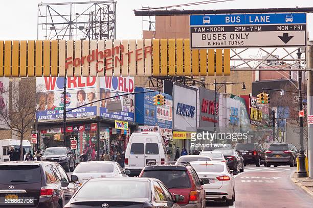 Heavy traffic on Fordham Road in the Bronx in New York on Thursday January 7 2016