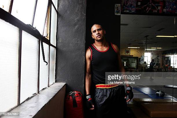 Heavy weight boxer Justin Henry during training at the Elouera Tony Mundine Gym on Vine Street in the Aboriginal housing community known as The Block...