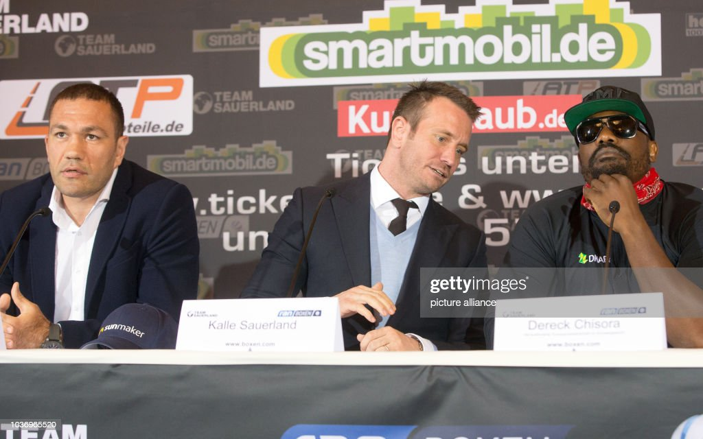 Press conference for European Heavy Weight Championship fight : News Photo