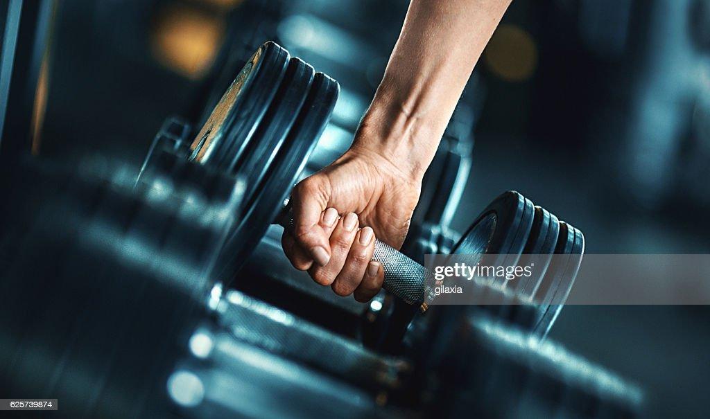 Heavy weight exercise. : Stock Photo