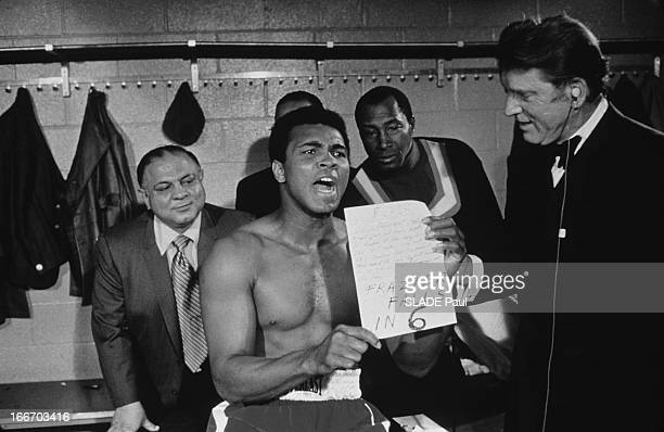 Heavy Weight World Boxing Championship Between Joe Frazier Muhammad Ali At Madison Square Garden In New York The Battle Of The Century Championnat du...