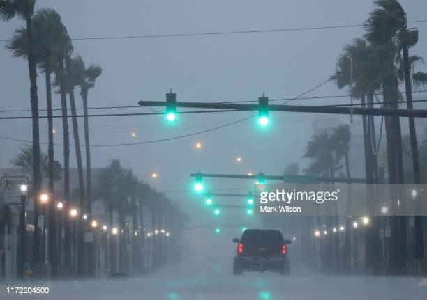 Heavy wind and rain caused by Hurricane Dorian hit Main St on September 4 2019 in Daytona Beach Florida Florida escaped a direct hit from Dorian...