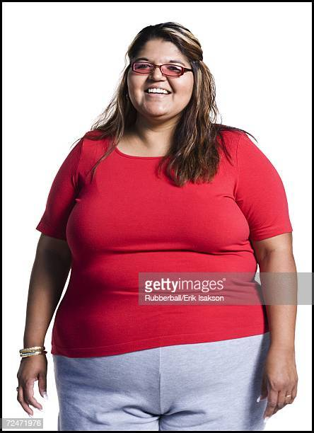 Heavyset young woman