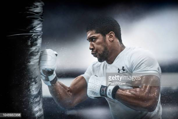 Heavyweight boxer Anthony Joshua is photographed on September 12 2018 in Sheffield England