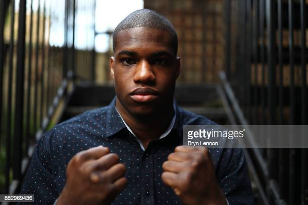 Heavyweight boxer Daniel Dubois poses for a portrait during a Boxing Academy Press Conference on November 30 2017 in London England