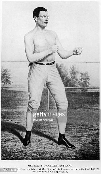 Heavyweight boxer John Carmel Heenan in 1860, the year of his historic championship fight with Tom Sayers in Farnborough. He was married to famous...