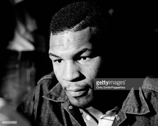 Heavyweight boxer Mike Tyson during a press conference prior to his fight against Trevor Berbick in Las Vegas on 22nd November 1986