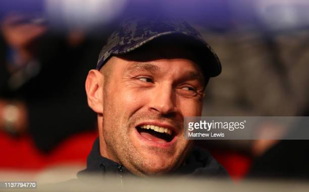 Heavyweight boxer Tyson Fury pictured at Morningside Arena on March 23, 2019 in Leicester, England.