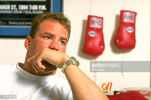 Casual portrait of Tommy Morrison at home during photo shoot after being diagnosed with HIVJay OK 2/12/1996CREDIT Phil Huber