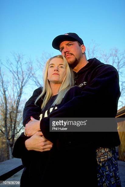 Casual portrait of Tommy Morrison on his ranch at home with girlfriend Dawn Freeman after being diagnosed with HIVJay OK 2/12/1996CREDIT Phil Huber