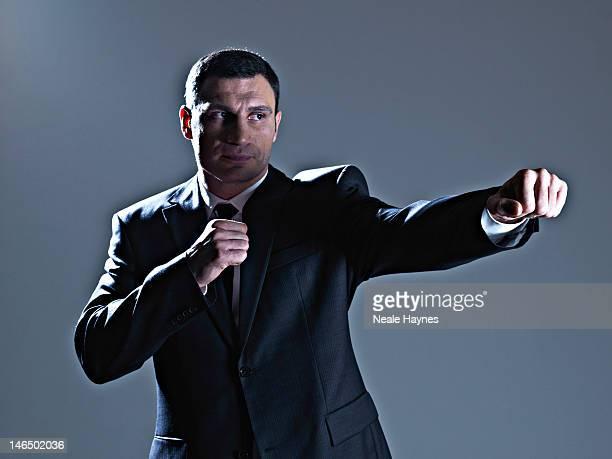 Heavyweight boxing champion Vitali Klitschko is photographed for Live magazine on March 11 2012 in Kiev Ukraine