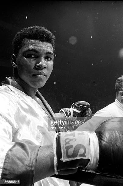 Heavyweight Boxing Closeup of Muhammad Ali after fight vs Doug Jones at Madison Square Garden Clay won on a decision after round 10 New York NY...
