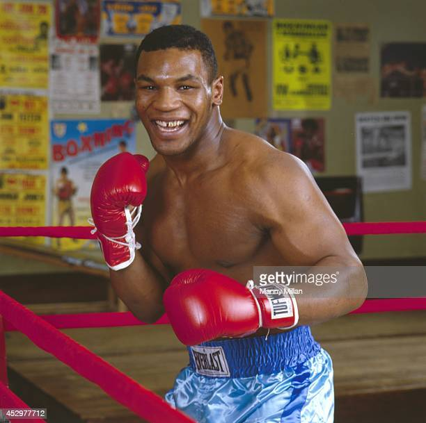 Closeup portrait of Mike Tyson during photo shoot at Cus D'Amato's Boxing Gym Catskill NY CREDIT Manny Millan