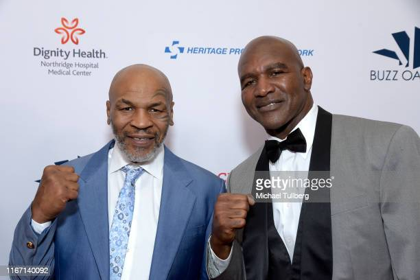 Heavyweight boxing legends Mike Tyson and Evander Holyfield attend the 19th annual Harold and Carole Pump Foundation Gala at The Beverly Hilton Hotel...