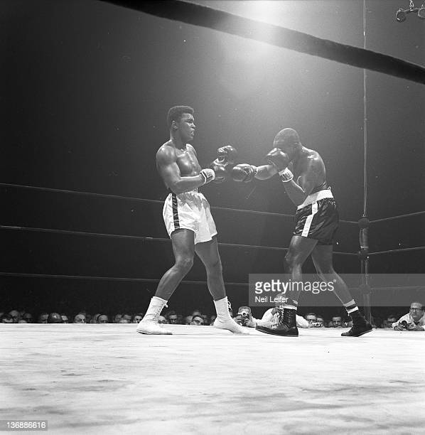 Heavyweight Boxing Muhammad Ali in action vs Doug Jones during fight at Madison Square Garden New York NY 3/13/1963 CREDIT Neil Leifer