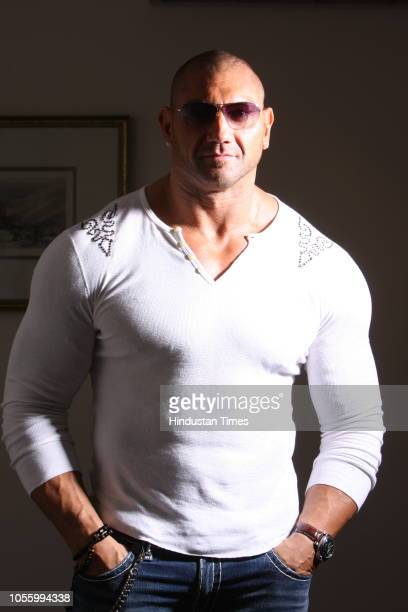 WWE heavyweight champion Batista photographed during an interview on September 18 2008 in New Delhi India